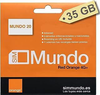 ORANGE SPANJE - Prepaid simkaart (Mundo-20) 40 GB in Spanje | Onbeperkt nationaal bellen | 9,5 GB roaming in Europa | Onli...