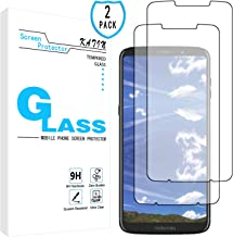 KATIN Moto Z3 Screen Protector - [2-Pack] Tempered Glass for Motorola Moto Z3 Play/Moto Z3 Easy to Install, Bubble Free with Lifetime Replacement Warranty