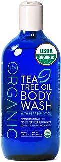 USDA Organic Tea Tree Oil Body Wash by Be-One Organics - Vegan - Paraben & Sulfate Free - Sensitive Skin - Organic Soap - ...