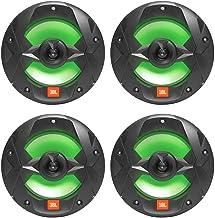 """$194 » (4) JBL MS8LB 450 Watt 8"""" Black 2-Way Marine Audio Boat Speakers w/RGB LED"""