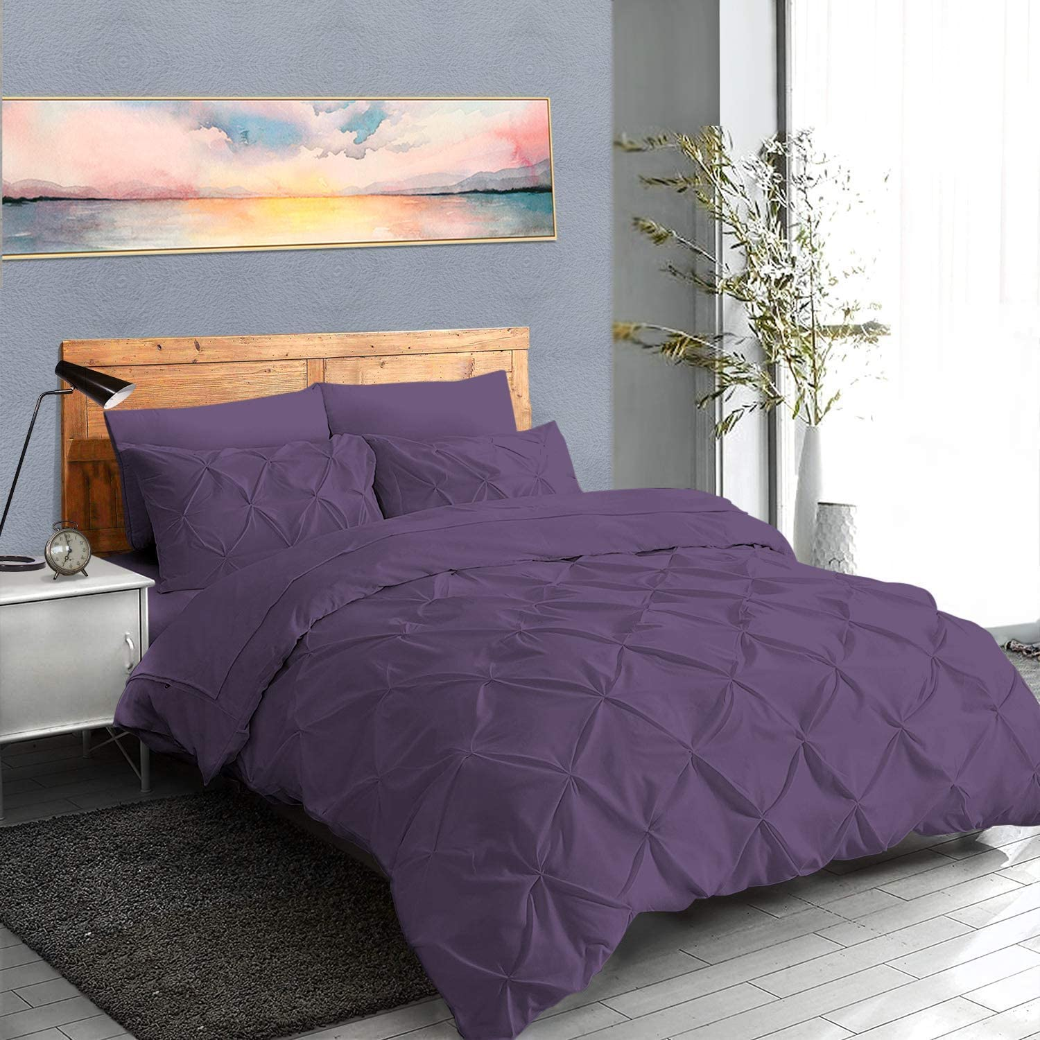 YouGottaIt Pinch Pleated 1Pcs New Free Shipping Duvet Easy-to-use Ties Corner Cover Zipper 1