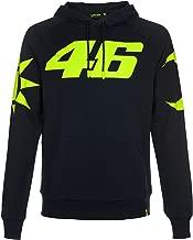 VR46 Valentino Rossi SOLELUNA Mens Hoodie Blue/Yellow Hoody Sweatshirt