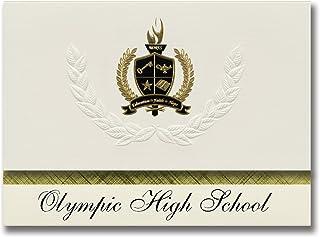 Signature Ankündigungen Olympischen High School (Bremerton, WA) WA) WA) Graduation Ankündigungen, Presidential Stil, Elite Paket 25 Stück mit Gold & Schwarz Metallic Folie Dichtung B078TN3TMP  Ruf zuerst 141085