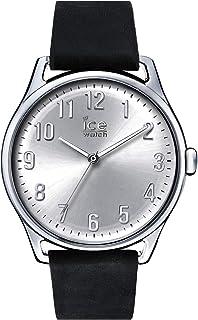 Ice-Watch - ICE time Black Silver - Montre noire pour homme avec bracelet en cuir - 013042 (Large)