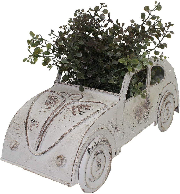 VW Look Planter Planter Pot Flower Holder Garden Metal White 38X15CM