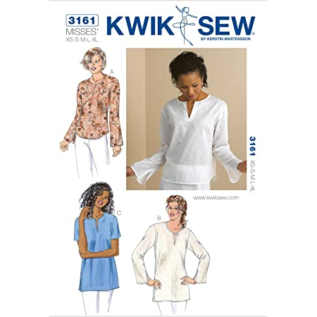 KWIK SEW 3161 - Patrón de Costura para Confeccionar Camisa de Mujer (Tallas XS - XL)