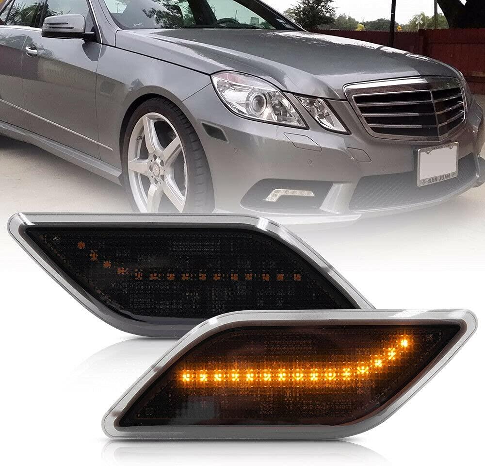 Amber Led Inexpensive Side Marker Lights for 2010-13 Pre- Mercedes Industry No. 1 Benz W212