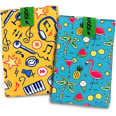 Dough.Q 3 x Bolsa Merienda Porta Sandwich Ecol/ógica y Reutilizable sin BPA