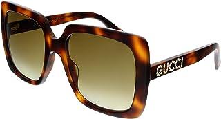 Gucci Women's Sunglasses Square GG0418S Havana/Brown