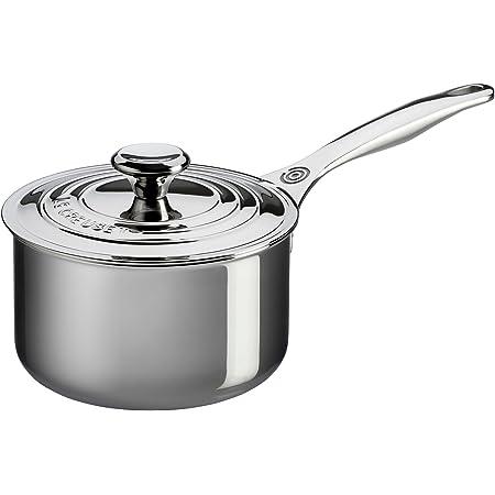 Le Creuset Tri-Ply Stainless Steel Saucepan, 2 qt.