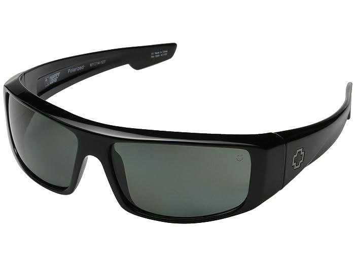 Spy Optic Logan (Black/HD Plus Gray Green Polar) Sport Sunglasses