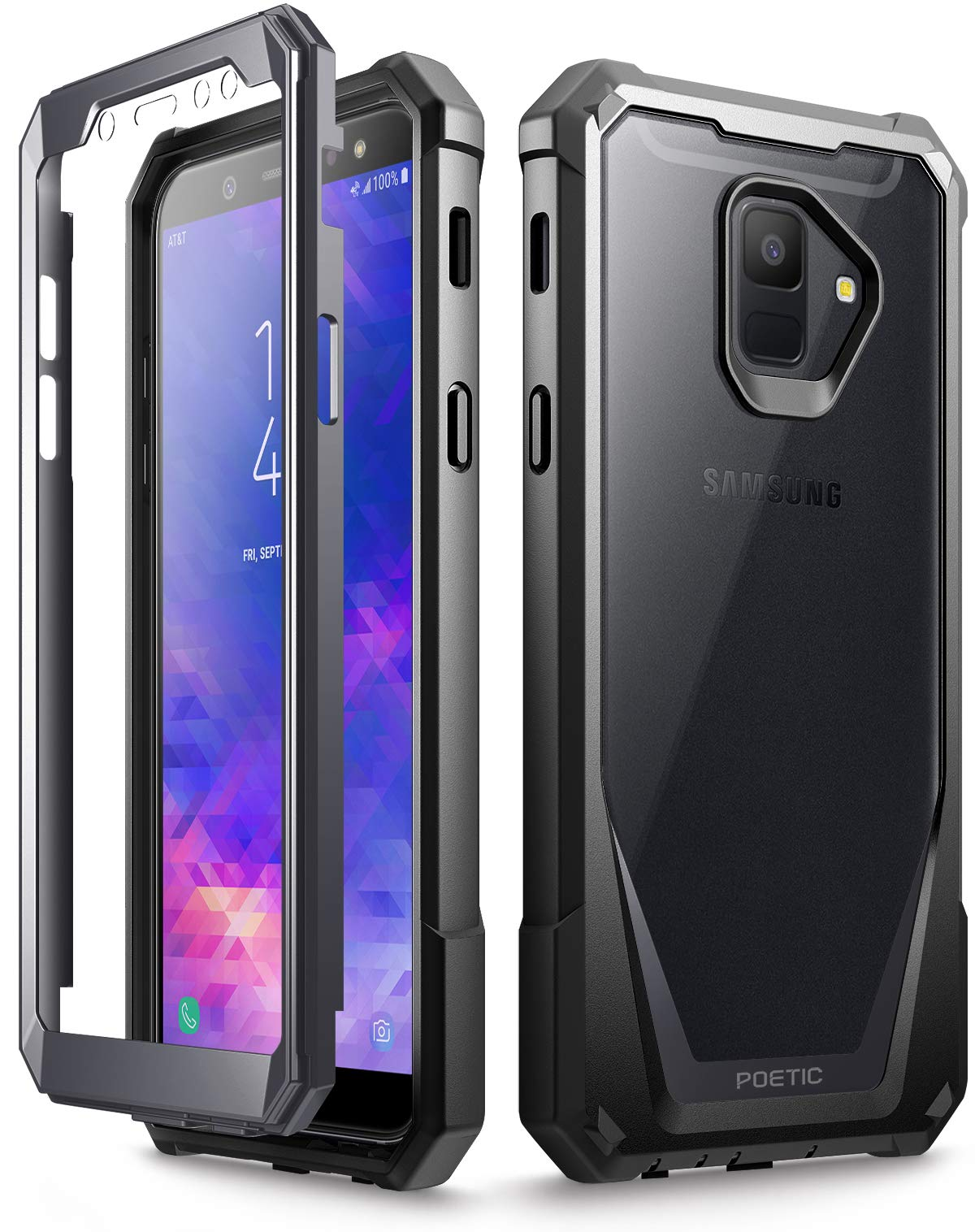 Poetic Funda Samsung Galaxy A6, Carcasa Guardián para Samsung Galaxy A6 [Resistente a los Rayones] Cuerpo Robusto Híbrida y Protector de Pantalla para Samsung Galaxy A6, Negra: Amazon.es: Electrónica