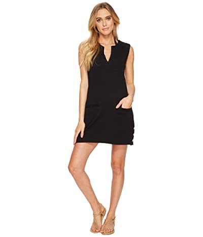 LAUREN Ralph Lauren Button Tunic Cover-Up (Black) Women