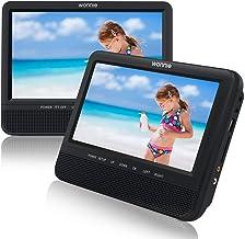 WONNIE Lecteur DVD Portable 19,1 cm pour Voiture, Deux écrans (Lire Les mêmes Films,..