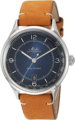 Multifort Patrimony Stainless Steel Case and Tan Leather Strap - M0404071604000