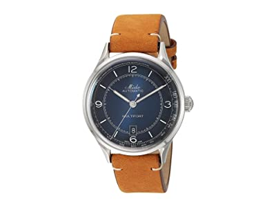 Mido Multifort Patrimony Stainless Steel Case and Tan Leather Strap M0404071604000 (Blue) Watches