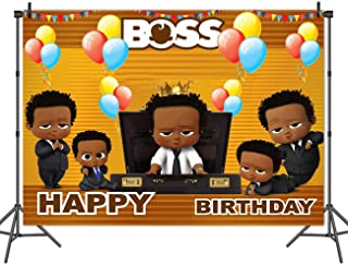 MC Vinyl 7x5ft Litter Baby Boss Boys Theme Photo Backdrop Baby Shower 1st 2nd Birthday Party Studio Decoration Photography Background Props Banner