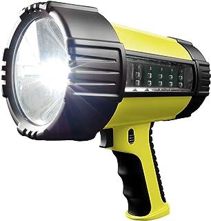 Wagan EL2484 Brite Nite 2 Million LED Spotlight LED Lantern Rechargeable Battery Water Proof, Silver