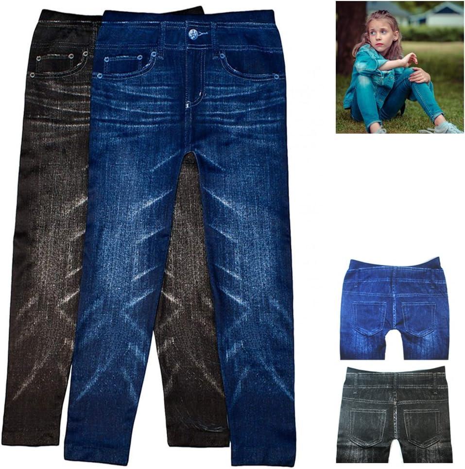 2 Pairs Girls Max Sale item 73% OFF Jeggings Fashion Cas Stretchy Denim Pants Leggings
