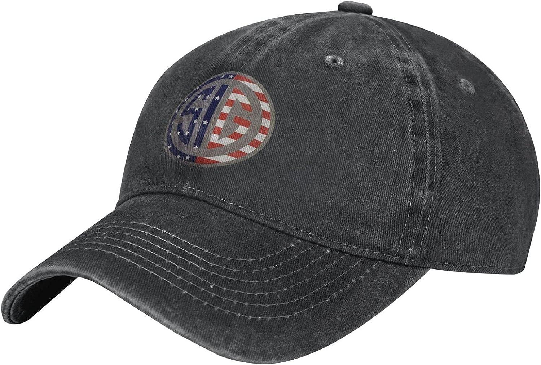 Sig-Sauer Hat Adjustable Snapback Baseball Caps Mesh Trucker Dad Hat for Men Women