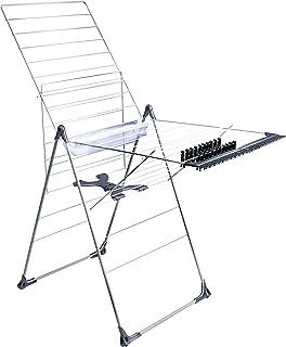 Amazon Basics 25 m stående torktumlare, individuellt justerbar torkställ, torkställning med tillbehör