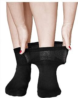 Calcetines Muy Expansibles Diabéticos Mujer (3 PARES) Acolchados para Pies Cansados