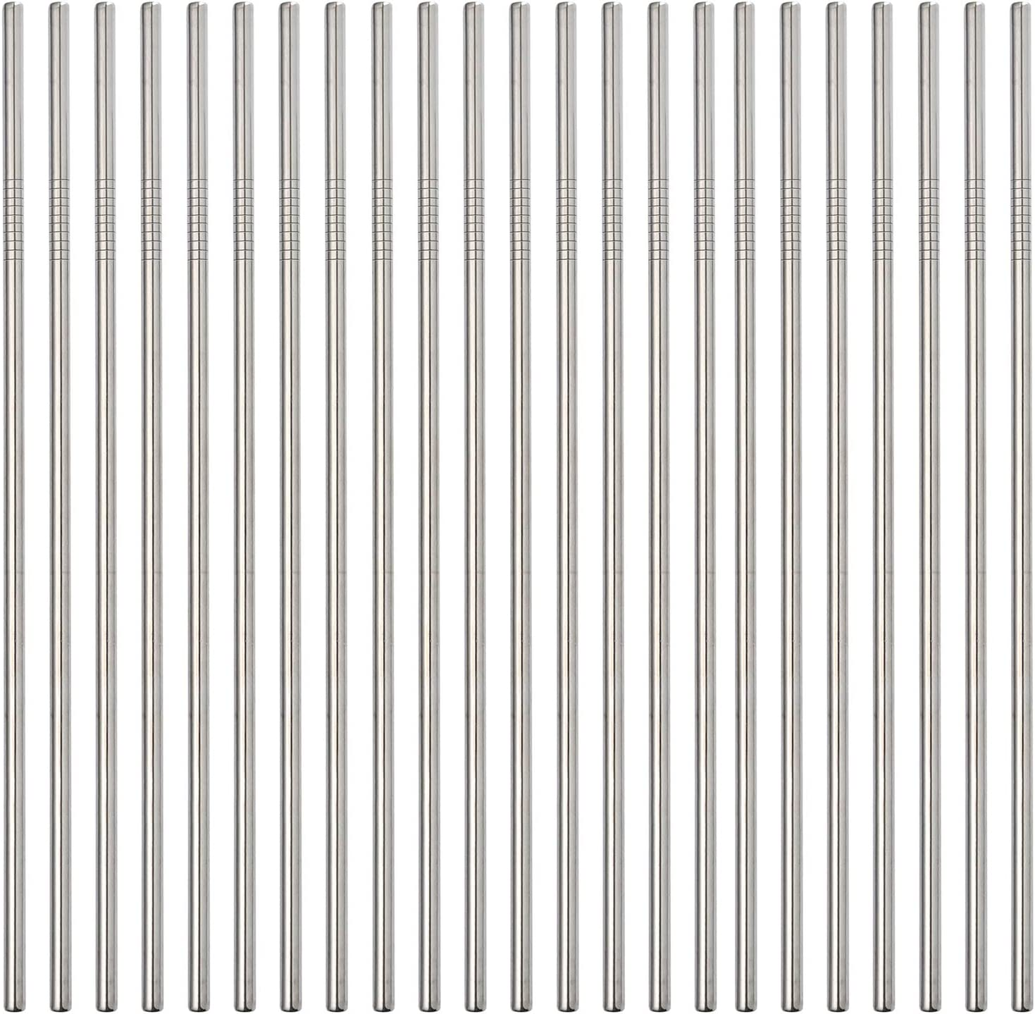 Reusable Metal Straws 24Pack 70% OFF Outlet Outlet ☆ Free Shipping Steel Bulk In 8.5