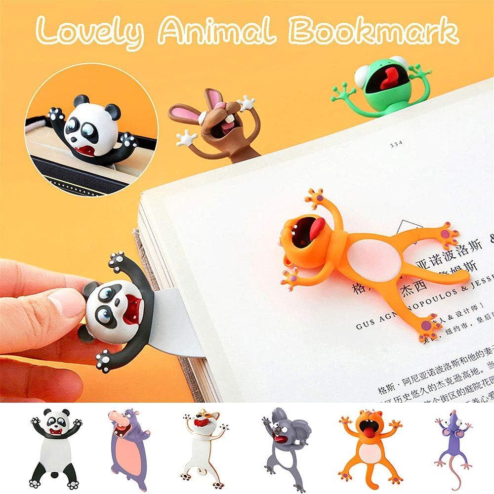 Marcadores de libros,Marcadores de animales,Marcadores de Animales en 3D para Libro para Estudiantes Oficina Papeler/ía Regalo Ideal para Ni/ños Ni/ñas
