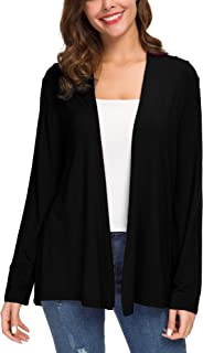 Sponsored Ad - Women`s Long Sleeve Solid Color Open Front Cardigan