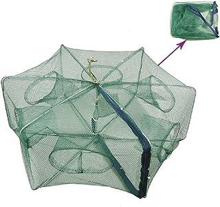 Portable Folded Fishing Net Fish Shrimp Minnow Crayfish Crab Baits Cast Mesh Trap..