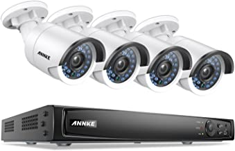 ANNKE 1080P Power over Ethernet Video Security System 6.0MP NVR and (4) 2.0MP CCTV Weatherproof Network/IP Cameras with 100ft Night Vision, NO HDD Included