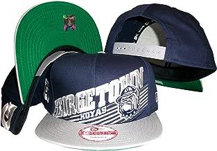 Georgetown Hoyas Navy/Grey Two Tone Snapback Adjustable Plastic Snap Back Hat/Cap