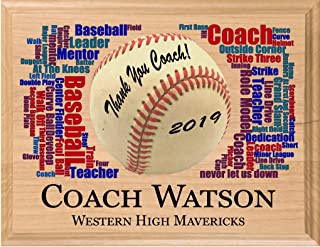 Broad Bay Baseball Coach Gift Personalized Coach's Appreciation Gifts for Baseball Coaches