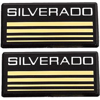 2x PartsTo Blue Line Cab Emblem Badge Side Roof Pillar Decal Plate for Chevy Silverado 88-98 90 91 Suburban Tahoe C//K Series Blazer Parsto