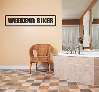 Car Window Decals Windows Cars Stickers Weekend Biker Humorous Funny Joke Sign Banner Quote Living Room Bedroom Kitchen Home Decor Picture Art Image – Size : 4 Inches X 12 Inch