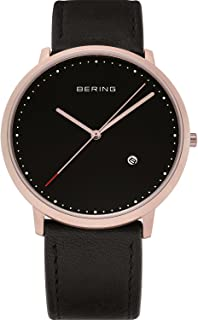 BERING Time 11139-462 Classic Collection Watch with Calfskin Band and Scratch Resistant Sapphire Crystal. Designed in Denmark.