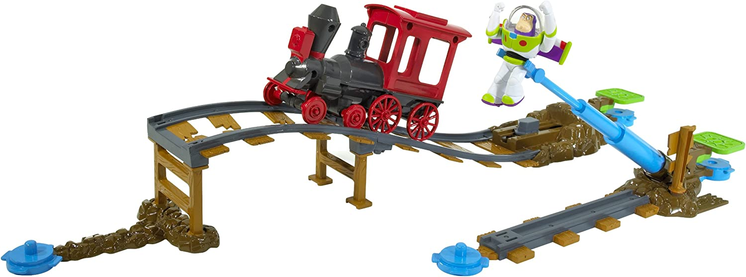Mattel Toy Story 3 Action Links Buzz Saves the Train Stunt Set
