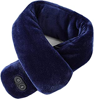 KLOP256 B bufanda calentada mujeres hombres invierno cálido cuello abrigo suave alivio del dolor cervical deportes al aire...
