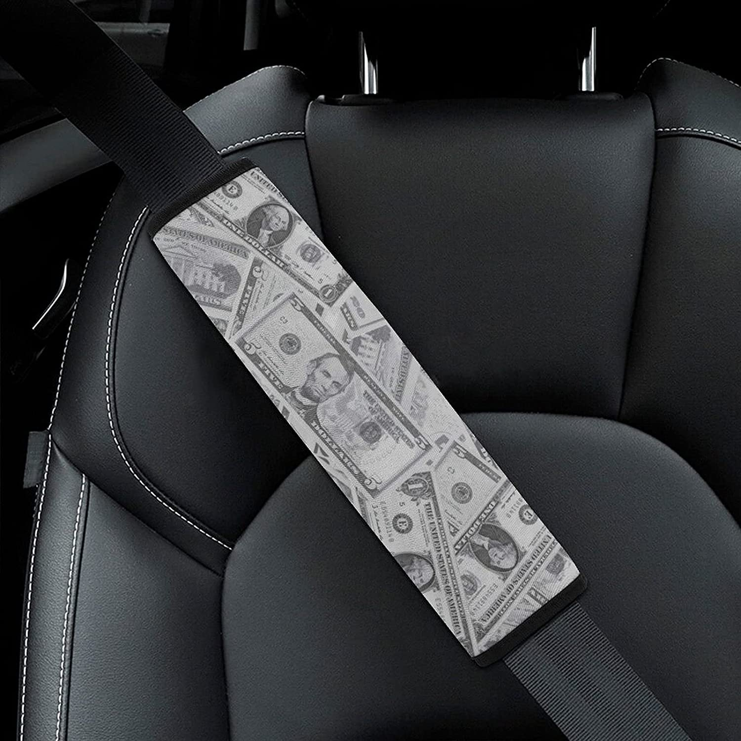 USA Money Dollars Pattern Car Detroit Mall Seat Adults Excellent Belt Kid for Pad Cover