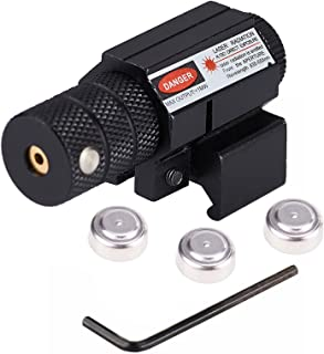 Pinty Compact Tactical Red Laser Sight with Picatinny Mount Alan Wrenches for Hunting - Easy and Bright