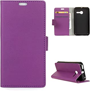 NCTECHINC Alcatel OneTouch Pixi Eclipse A462C Case, Alcatel OneTouch Pixi Eclipse A462C Phone Case Slim Folio Flip Cover Covers Slim Shell Compatible with Alcatel OneTouch Pixi Eclipse A462C (Purple