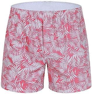 Zzdeshua Men's Fashion Graffiti Cotton Soft Boxer Trunks Briefs Casual Funny Home Breathable Button Shorts Underwear