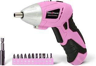Pink Power PP481 3.6 Volt Cordless Electric Screwdriver Rechargeable Screw Gun & Bit..