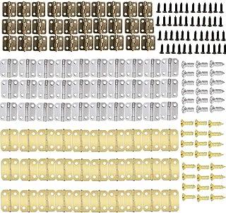 90 bisagras retro con 360 tornillos de bisagra de repuesto para gabinete caja de madera