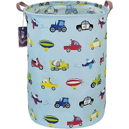 NSI INSLIKE Large Storage Bin Waterproof Laundry Hamper Organizer Basket Kid Hamper for Cloth Baby Nursery Toys Hello Fox