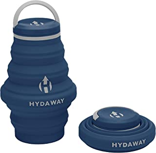 HYDAWAY Collapsible Water Bottle,17oz Cap Lid | Ultra-Packable, Travel-Friendly, Food-Grade Silicone