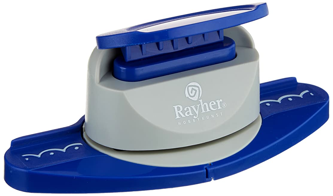 Rayher Semicircle Border Puncher, Blue, 18.5 x 9 x 6.5 cm