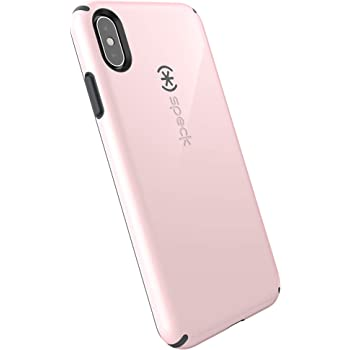 Speck Products CandyShell iPhone XS Max Case, Quartz Pink/Slate Grey