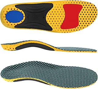 Vsonker for Arch Support Insoles, Flat Feet, Plantar Fasciitis Orthotic Inserts with Semi-Rigid Nylon Arch Support Pad Best Shock Absorption Insole for Men and Women, L(Men's 10-12.5)