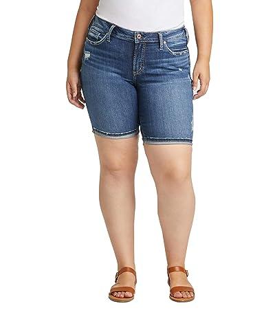 Silver Jeans Co. Plus Size Suki Mid-Rise Bermuda Shorts W53940SGX350